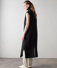 【&her】Cottonlinen Knit Dress/BLACK