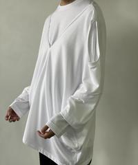 【&her】Layered Tee Shirts/WHITE