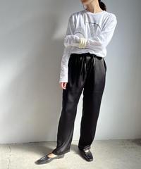 【&her】 Satin Pants/ BLACK