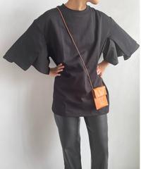 【&her】Flare Sleeve Tshirt/BLACK