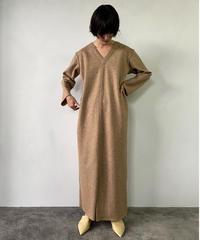 【&her】Wool Dress/BROWN