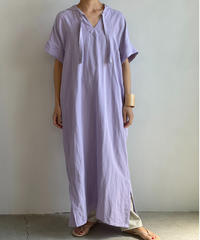【&her】Rayon Linen Hoodie Dress/LILAC