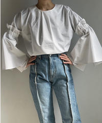 【&her】Reversible Flare Shirts/WHITE