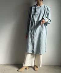 【&her】Linen Shirts Jacket/SAXBLUE