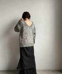【&her】Melange Knit/IVORYBROWN