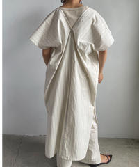 【&her】Stripe Gown Top/IVORY