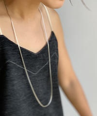 【&her】Snack Long Necklace/SILVER