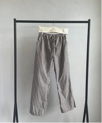 【&her】Stripe relax Pants/BROWN