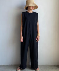 【&her】Voil Chambray All in one  /BLACK