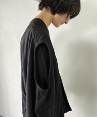 【&her】Layered Tee Shirts/BLACK
