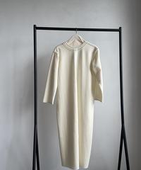 【&her】Wool Dress/WHITE