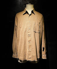 Damage vintage corduroy shirt #2