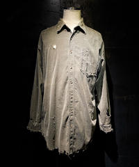 Damage vintage corduroy shirt  #1