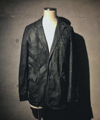 Black coating stripe jacket