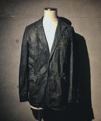 Black coating stripe jacket
