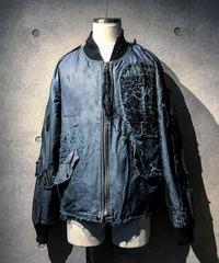 Different fabrics Sewn MA-1 JACKET (襤褸)