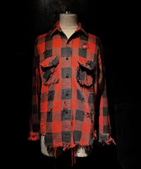 Damage vintage plaid shirt