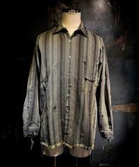 Vintage damage stripe shirt #1