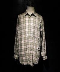 Damage vintage plaid shirt #2
