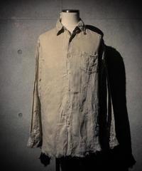 Vintage damage&paint linen shirt