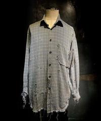 Vintage damage check shirt #2