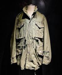 Hard damage vintage M-65 jacket