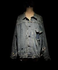 Vintage damage & paint 1st type denim jacket