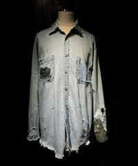 Damage vintage denim shirt (襤褸)