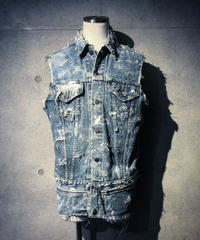 Vintage damage denim vest