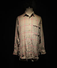 Vintage damage flannel plaid shirt