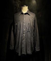 Vintage damage linen shirt #2