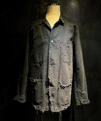 Vintage denim coverall jacket