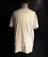 Vintage dye damage T-shirt (Old white)