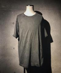Vintage dye damage T-shirt (Old black)