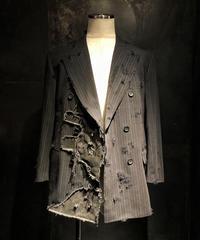 Patchwork damage vintage jacket