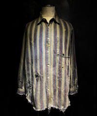 Vintage stripe damage shirt