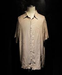 Vintage damage half silk shirt