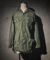 Damage pocket military shirt jacket