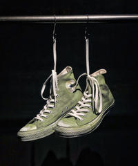 Discoloration Vintage High cut Sneaker Moss green