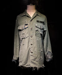 Vintage damage military shirt (襤褸)