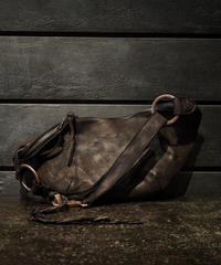 CRAFTED BY RESURRECTION GARMENT-DYED RUST EQUIPMENT SHOULDER BAG