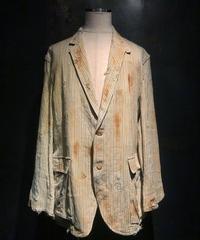 Damage vintage stripe jacket