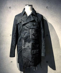 Different fabrics sewn trench Coat