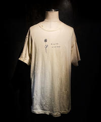 Flower vintage dye damage T-shirt (Old white)