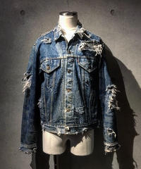 Hard damage Down Denim Jacket