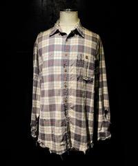 Damage vintage plaid shirt #1