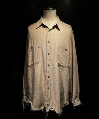 Vintage damage beige shirt