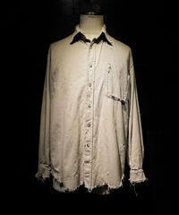 Damage vintage corduroy shirt #3