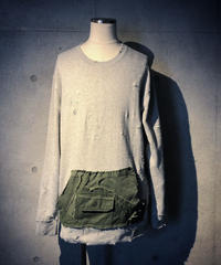 Military pocket damage  sweat shirt