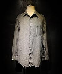 Vintage damage black denim shirt